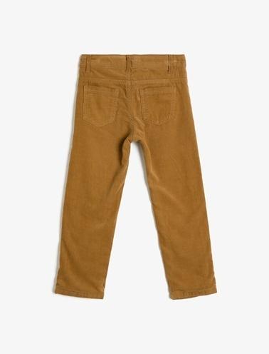Koton Kids Cep Detaylı Pantolon Kahve